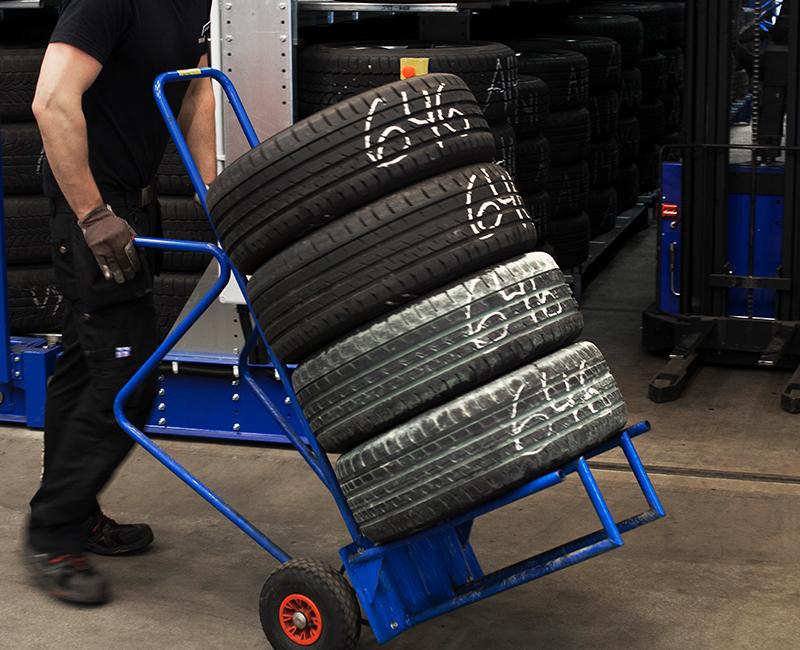 Förvara dina däck hos Däckteams däckhotell